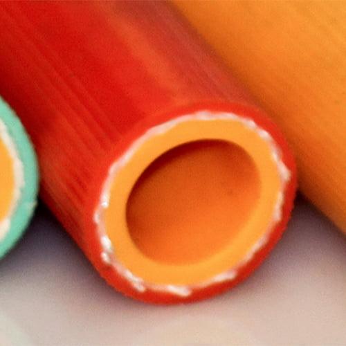 Orange Spiraled Agricultural Hose